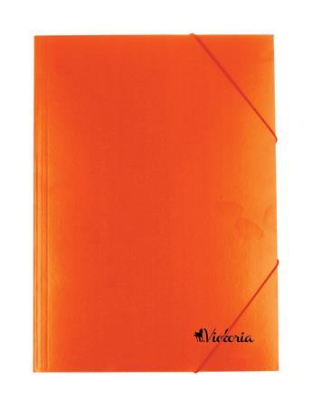 Gumis mappa, karton, A4, narancs