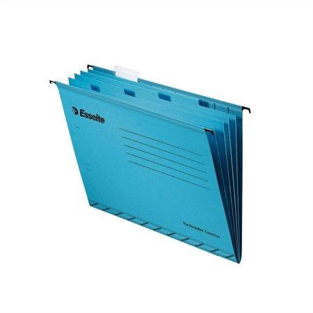 Függőmappa, újrahasznosított karton, A4, elválasztólapokkal, ESSELTE, kék
