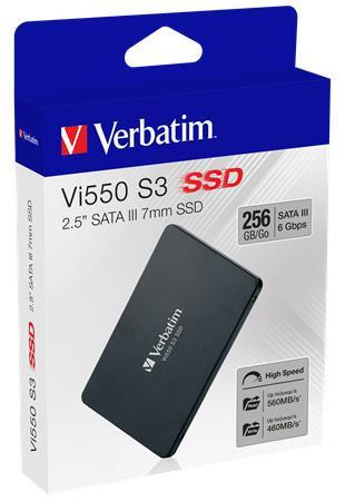"SSD (belső), 256 GB, SATA 3, VERBATIM ""Vi550"""