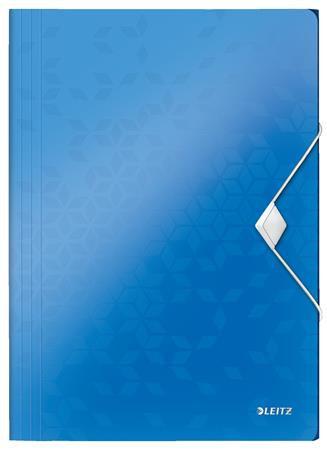 Gumis mappa, PP, A4, kék