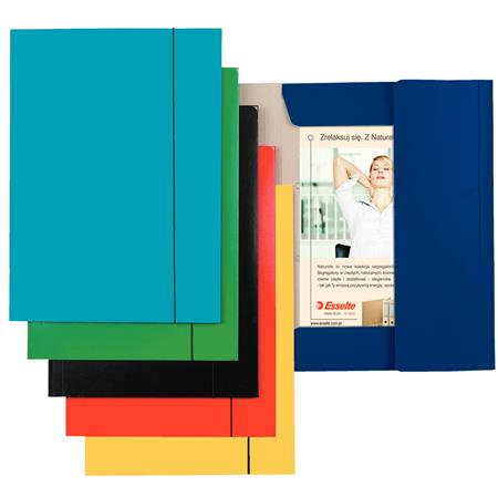 Gumis mappa, 15 mm, karton, A4, kék