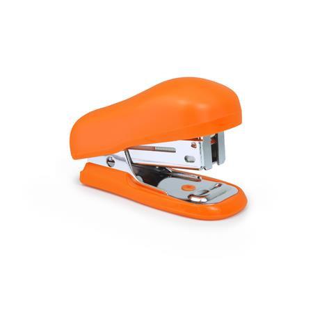 "Tűzőgép, 24/6, 26/6, 12 lap, műanyag, RAPESCO ""Bug Mini"", narancs"