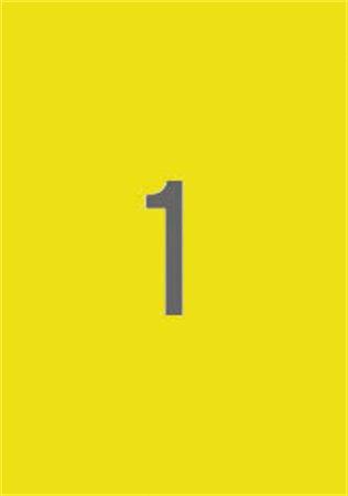 Etikett, 210x297 mm, APLI, sárga, 20 etikett