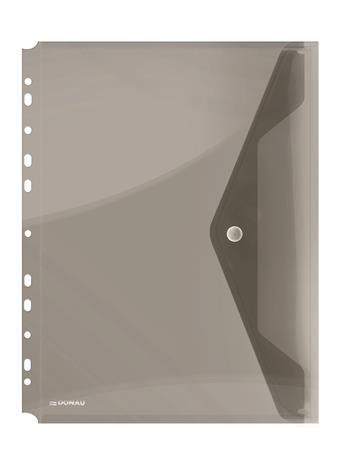 Irattartó tasak, A4, PP, patentos, lefűzhető, DONAU, füstszínű