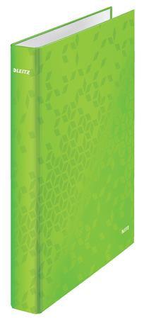 Gyűrűs könyv, 2 gyűrű, D alakú, 40 mm, A4 Maxi, karton, lakkfényű, zöld