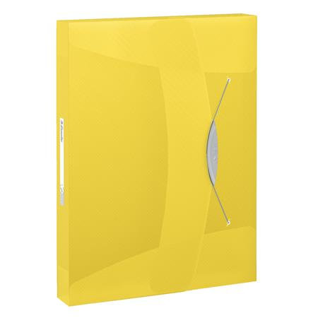 Gumis mappa, 40 mm, PP, A4, Vivida sárga