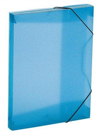 Gumis mappa, 30 mm, PP, A4, kék