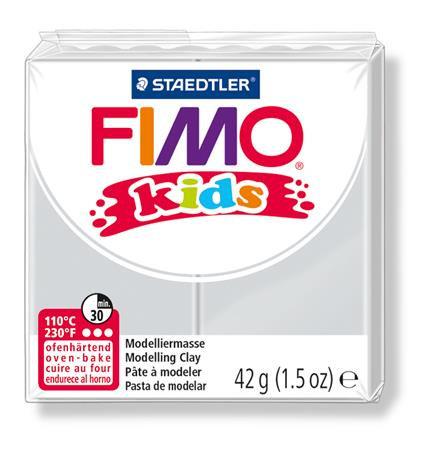 "Gyurma, 42 g, égethető, FIMO ""Kids"", világosszürke"