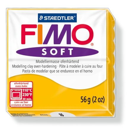 "Gyurma, 56 g, égethető, FIMO ""Soft"", napsárga"