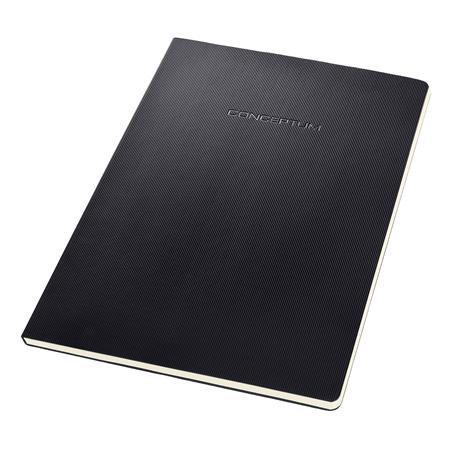 """Füzet, exkluzív, A4, kockás, 60 lap, lyukasztott, """"Conceptum"""", fekete"""