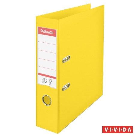 "Iratrendező, 75 mm, A4, PP, élvédő sínnel, ESSELTE ""Standard"", Vivida sárga"