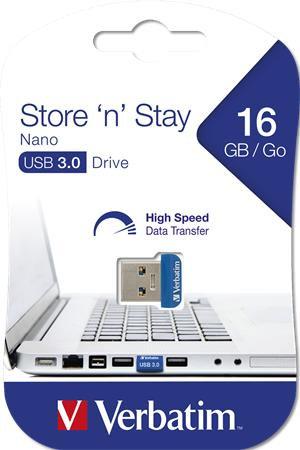 """Pendrive, 16 GB, USB 3.0, """"NANO STORE ´N´ STAY"""""""