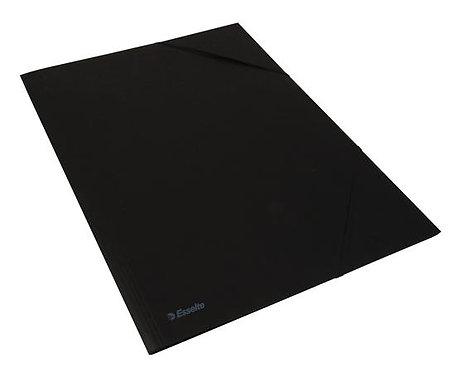 Gumis mappa, karton, A3, fekete