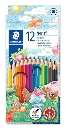 """Színes ceruza készlet, hatszögletű, STAEDTLER """"Noris Club"""", 12 különböző szín"""