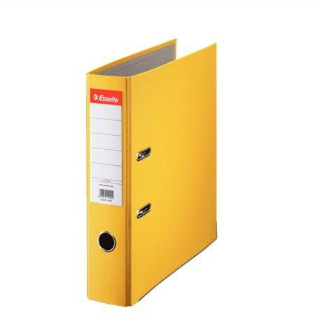 """Iratrendező, 75 mm, A4, PP/karton, élvédő sínnel, ESSELTE """"Economy"""", sárga"""