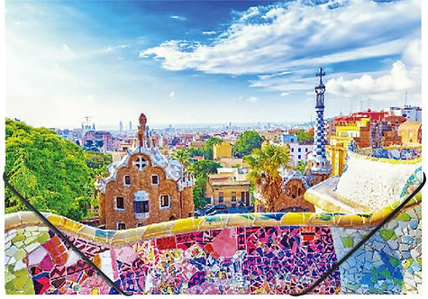 """Gumis mappa, 15 mm, PP, A4, """"Barcelona"""""""