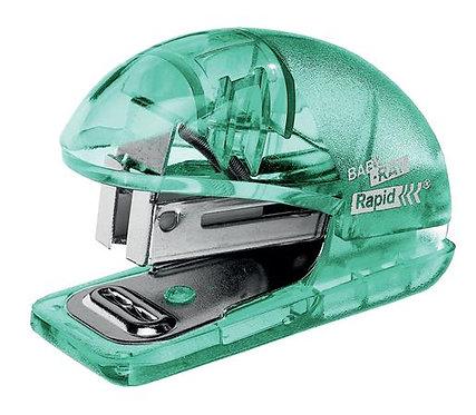 """Tűzőgép, mini, 24/6, 26/6, 10 lap, RAPID """"Colour` Ice"""", zöld"""
