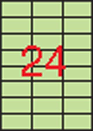 Etikett, 70x37 mm, APLI, pasztell zöld, 480 etikett