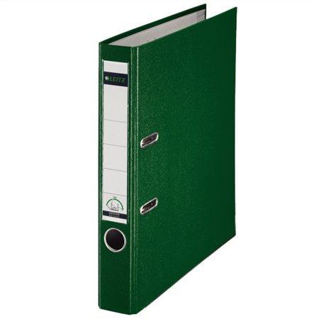 """Iratrendező, 52 mm, A4, PP/karton, élvédő sínnel, LEITZ """"180"""", zöld"""