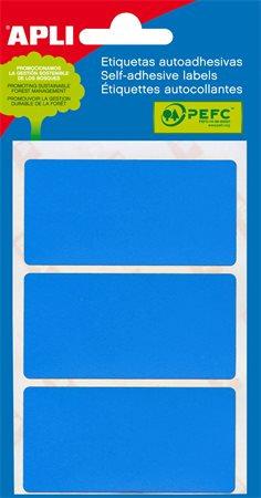 Etikett, 34x67 mm, kék, APLI, 15 etikett