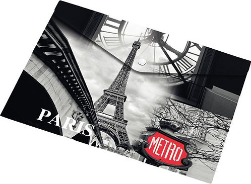 "Irattartó tasak, A5, PP, patentos, 160 mikron, ""Paris"""