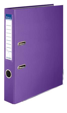 """Iratrendező, 50 mm, A4, PP/karton, élvédő sínnel, VICTORIA, """"Basic"""", lila"""