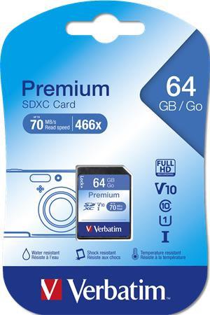 "Memóriakártya, SDXC, 64 GB, CL10/U1,""Premium"""