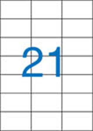 Etikett, univerzális, 70x42,4 mm, 2100 etikett