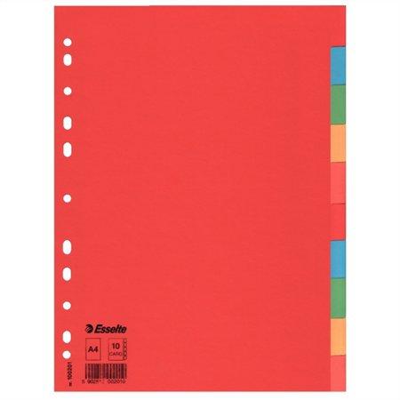 """Regiszter, karton, A4, 10 részes, """"Economy"""", színes"""