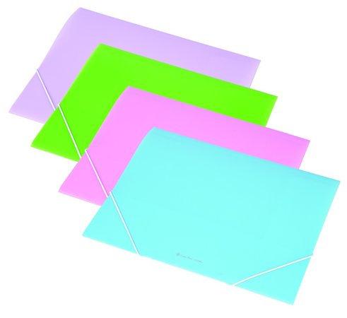 Gumis mappa, 15 mm, PP, A4, pasztellzöld