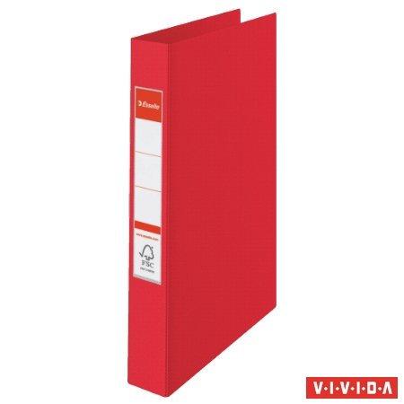 """Gyűrűs könyv, 4 gyűrű, 42 mm, A4, PP, """"Standard"""", Vivida piros"""