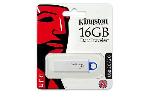 """Pendrive, 16 GB, USB 3.0, """"DTI G4"""", kék"""