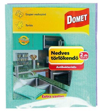 Antibakteriális nedves törlőkendő, 2db
