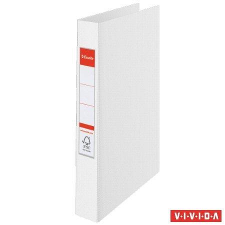 """Gyűrűs könyv, 2 gyűrű, 42 mm, A4, PP, """"Standard"""", Vivida fehér"""