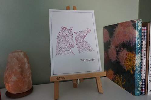The Kelpies Print - Pink