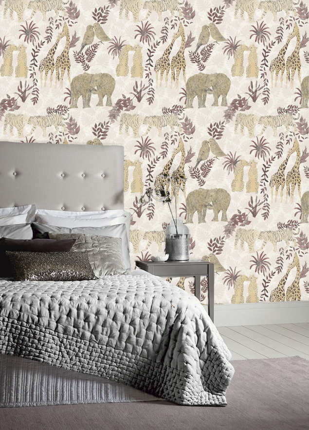 LOVE wallpaper in the colourway Rose.