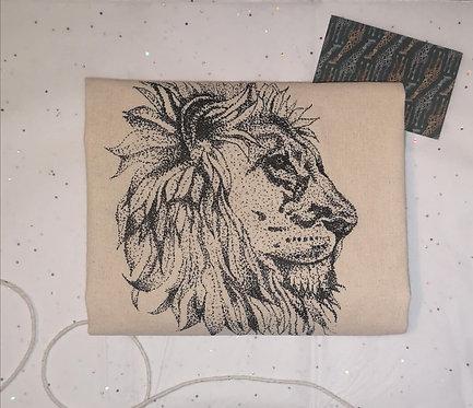 Lion Head Cotton Shopper Bag