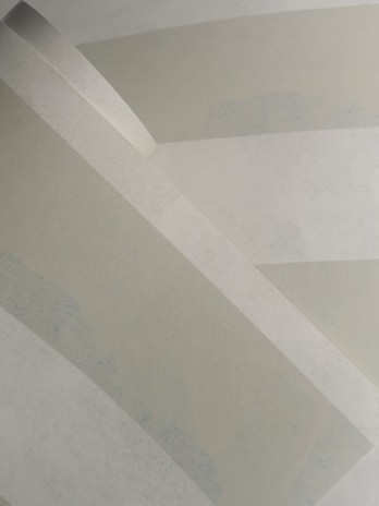 STRIPE wallpaper in the colourway Natural/Blue.
