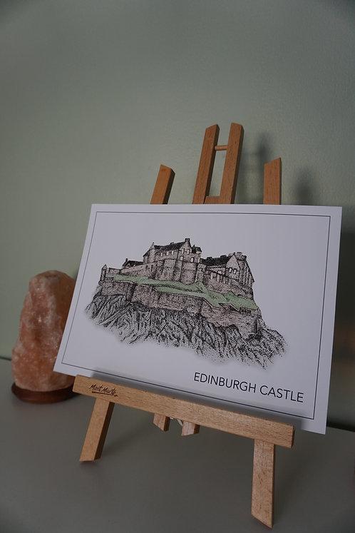 Edinburgh Castle Print - Colour