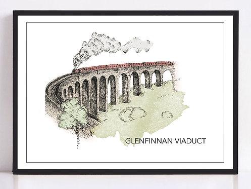Glenfinnan Viaduct Print - Colour