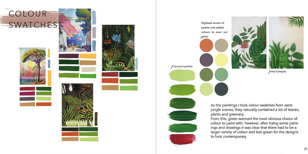 Pulling out key colours from paintings and finding the trends