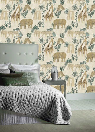 LOVE wallpaper in the colourway Natural.