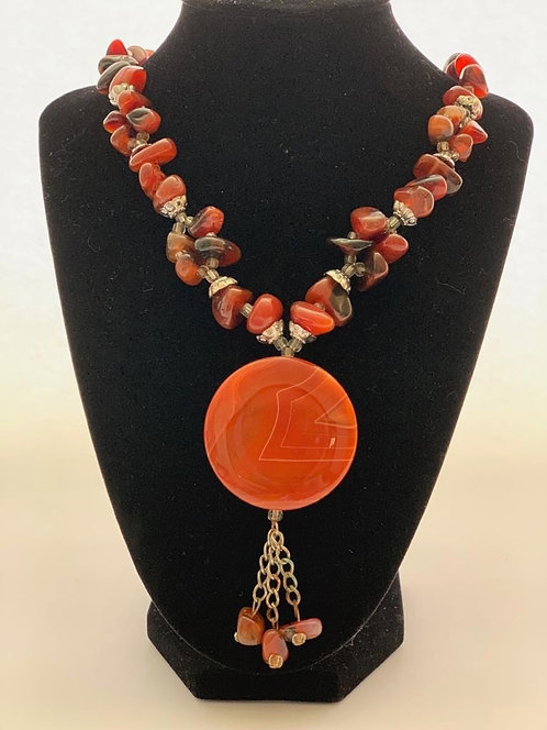 Carnelian and Agate Necklace OBC000124