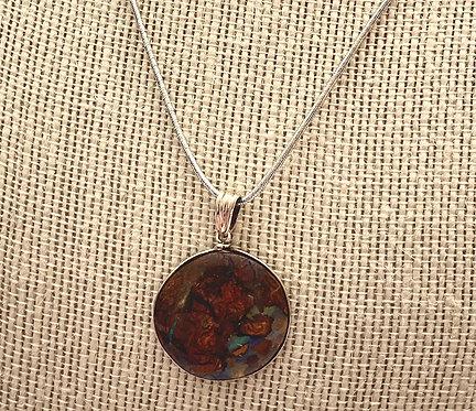 Silver Boulder Opal Pendant OBC000158