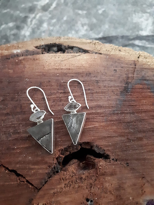 SHUNGITE Earrings OBC000109