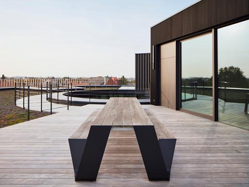 HOPPER WHITE & BLACK PICNIC TABLE design by Dirk Wynants