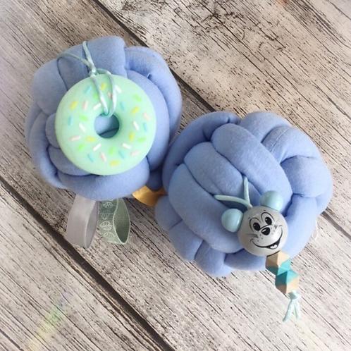 Balle d'éveil et anneau de dentition silicone Donuts/ Baby ball