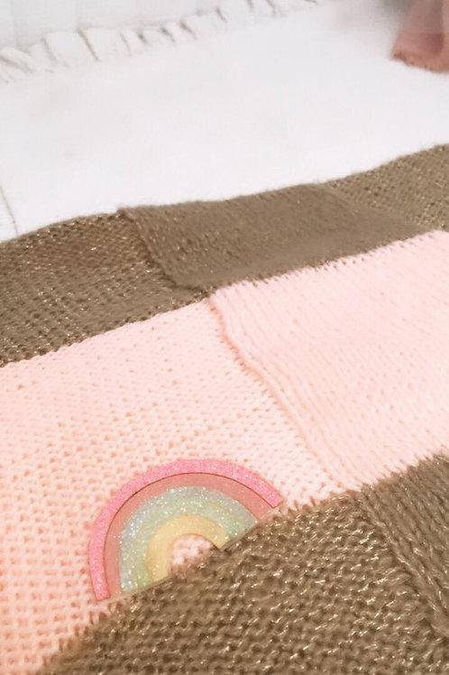 Couverture bébé arc en ciel / Blanket for baby rainbow
