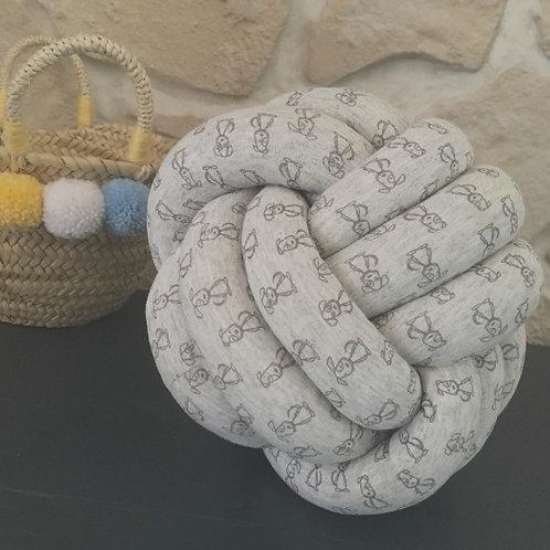 Coussin nœud boule chien/Knot pillow dogs