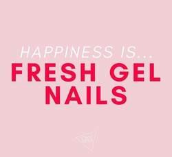Happiness is fresh gel nails